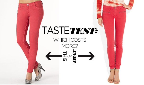 Coral Jeans | Victoria Beckham Skinny Jeans | Best Colored Jeans