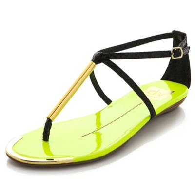 f12bb586f39f83 What Could Be Better For Your Summer Pedi Than Neon Sandals To Match