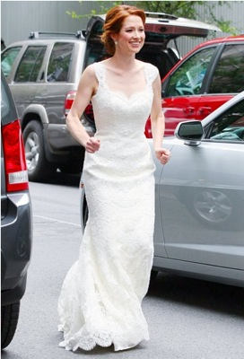 Elllie Kemper Wedding Dress