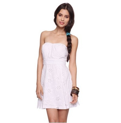 Forever 21 Eyelet Sweetheart Dress