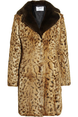 FAITH CONNEXION Annabelle Dexter-Jones leopard-print rabbit coat
