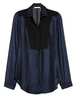 FAITH CONNEXION Metallic chiffon shirt