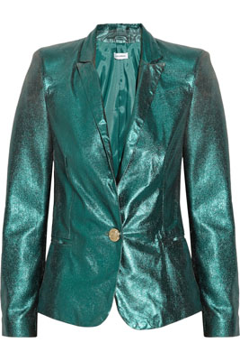 FAITH CONNEXION Metallic leather blazer