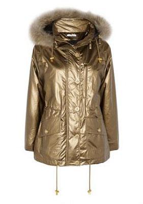 FAITH CONNEXION Raccoon-trimmed metallic shell jacket