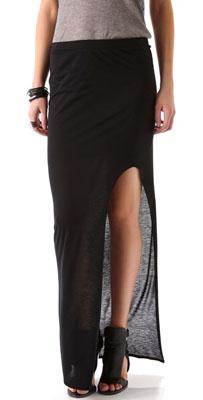 Helmut Kinetic Side Slit Maxi Skirt