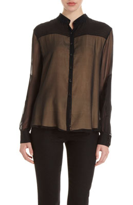 Holmes & Yang Contrast Layer Blouse