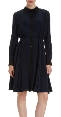 Holmes & Yang Contrast Placket Dress