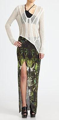 Helmut Lang Cicada-Print Skirt