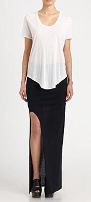 Helmut Lang HELMUT Kinetic Jersey Slit Skirt