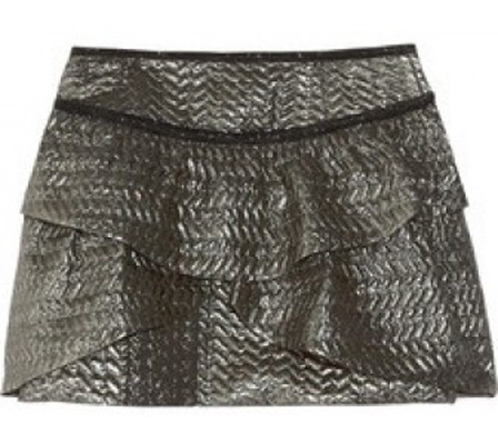 Isabel Marant Bilbao Metallic Brocade Mini Skirt
