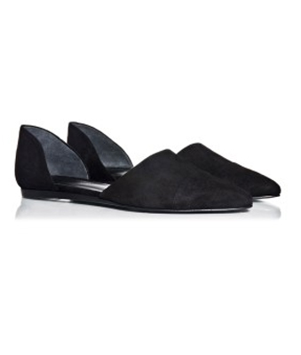 Jenni Kayne Suede d'Orsay Flats in Black