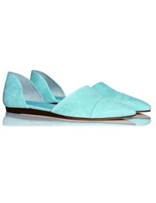 Jenni Kayne Suede d'Orsay Flats in Pool
