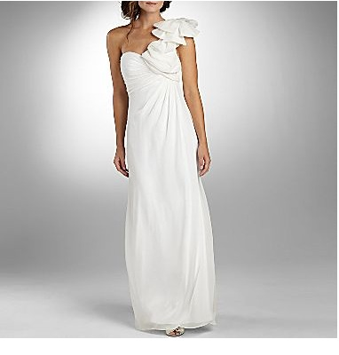 Lilianna Ruffle One-Shoulder Ruched Wedding Dress