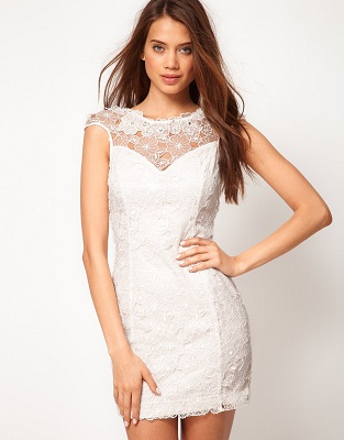 Lipsy 3D Lace Dress
