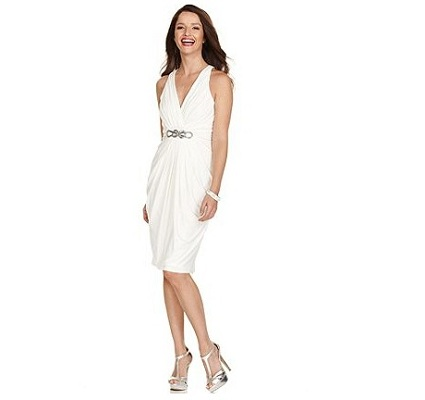 London Times Sleeveless Halter Dress