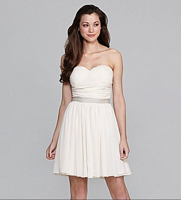 MM Couture by Miss Me Strapless Embellished Dress