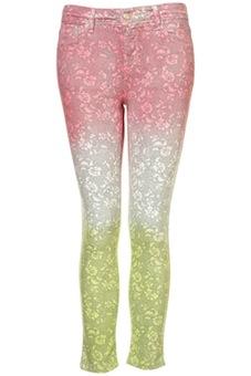 MOTO Lace Ombre Crop Jeans