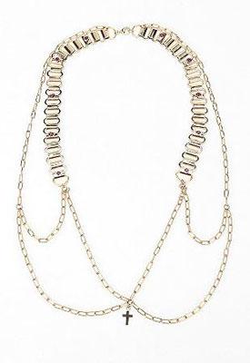 MariaFrancescaPepe Chain Bra Harness