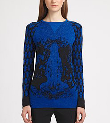 Prabal Gurung Wool/Lurex Skull Sweater