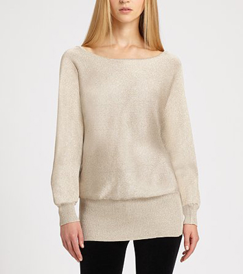 Ralph Lauren Black Label Lurex Knit Sweater