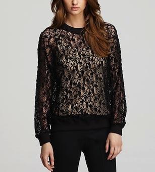 Rebecca Taylor Sweatshirt - Lace