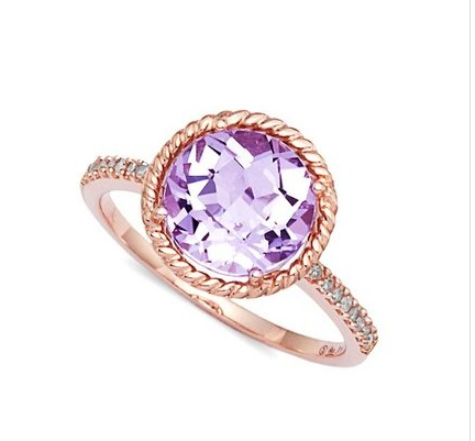 Rose de France Amethyst Cable Ring