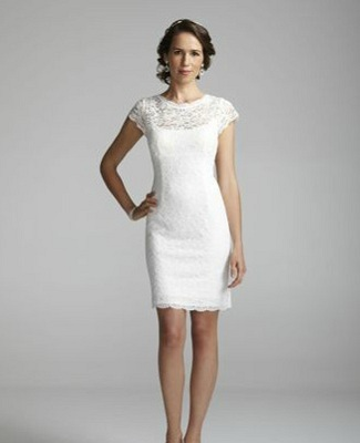 Short Lace Cap Sleeve Dress with Exposed Zipper