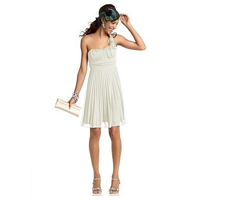 Speechless One-Shoulder Dress with Rose Detail
