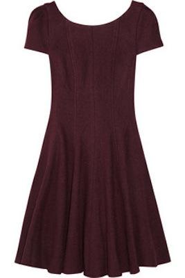 Tibi Paneled Textured-Felt Dress