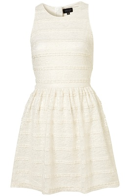 Topshop Metallic Lace Flippy Dress
