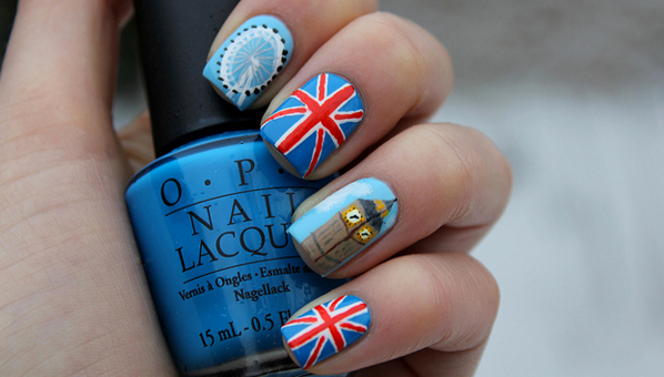 Olympic Nail Art Olympic Nail Polish Patriotic Nail Art