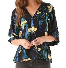 Tucker Floral Silk Top