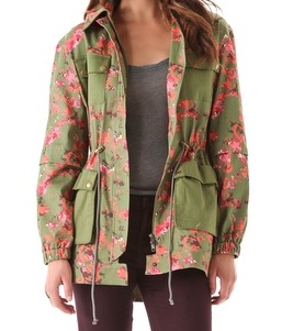 Thakoon Flower Camo Utility Jacket