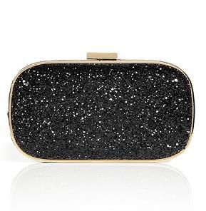 Anya Hindmarch Black Glitter Clutch