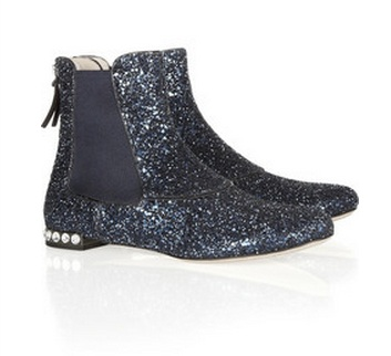 Miu Miu Glitter Chelsea Boots