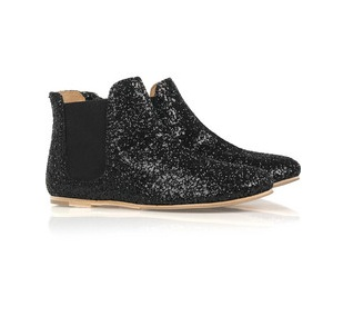 Pedro Garcia Glitter Leather Ankle Boots