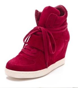 Ash Cool Wedge Suede Sneakers