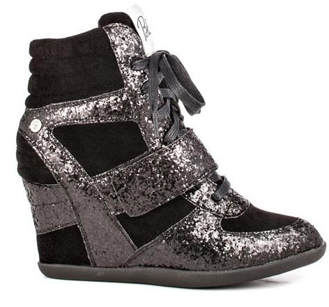Anslee Glitter Black Blink Sneaker