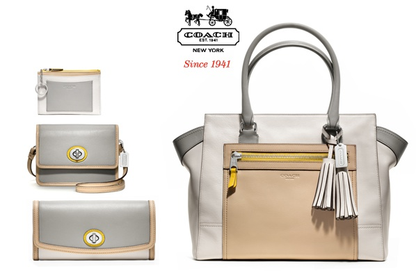 Coach Legacy White Colorblocking