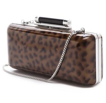 Diane von Furstenberg 'Tonda' Leopard Patent Clutch