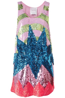 Flash Burst Sequin Dress by Louise Gray
