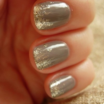 Gray With Gold Ombre