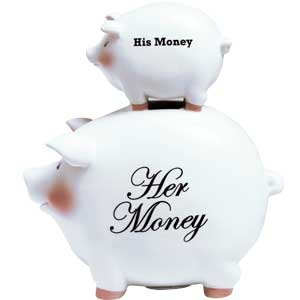 His and Her Piggy Bank
