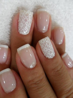 Delicate Flowers On Ring Fingers