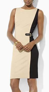 Lauren Ralph Lauren Dress Two Tone Boat Neck Dress