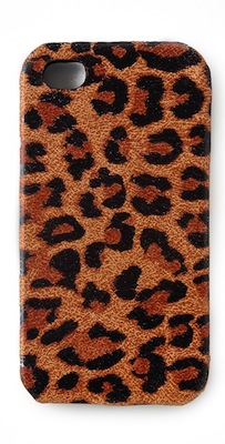 Leopard Leather iPhone Cover