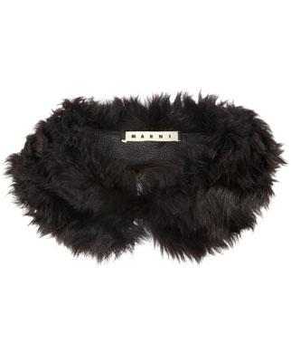 MARNI Shearling collar