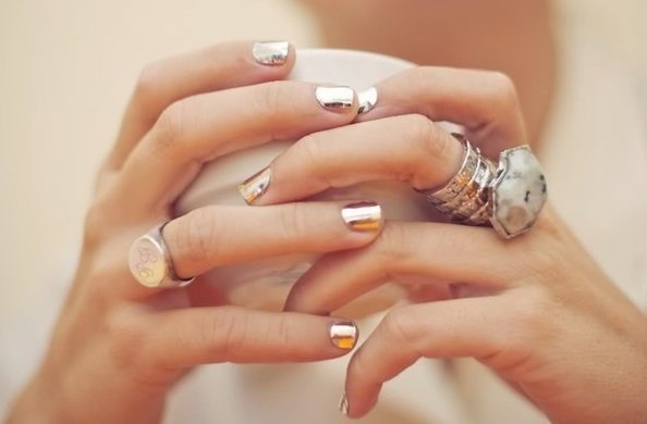 Metallic Nails Summer Nail Art Trends 2013