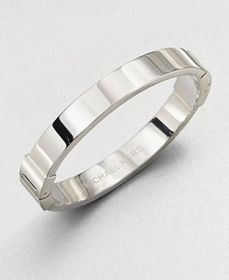 Michael Kors Thin Oval Hinged Bangle Bracelet