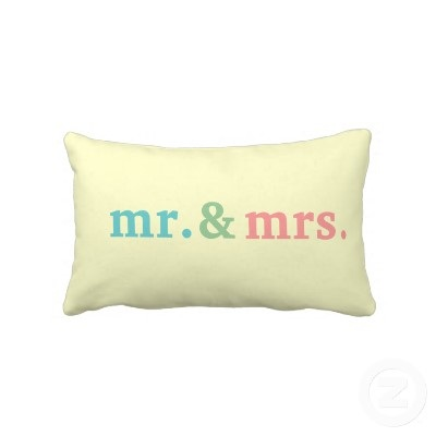 Mrs And Mrs Pillow Zazzle
